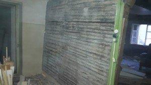 mur cuisine décapé